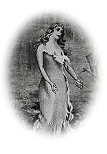 old painting of Virginia Dare