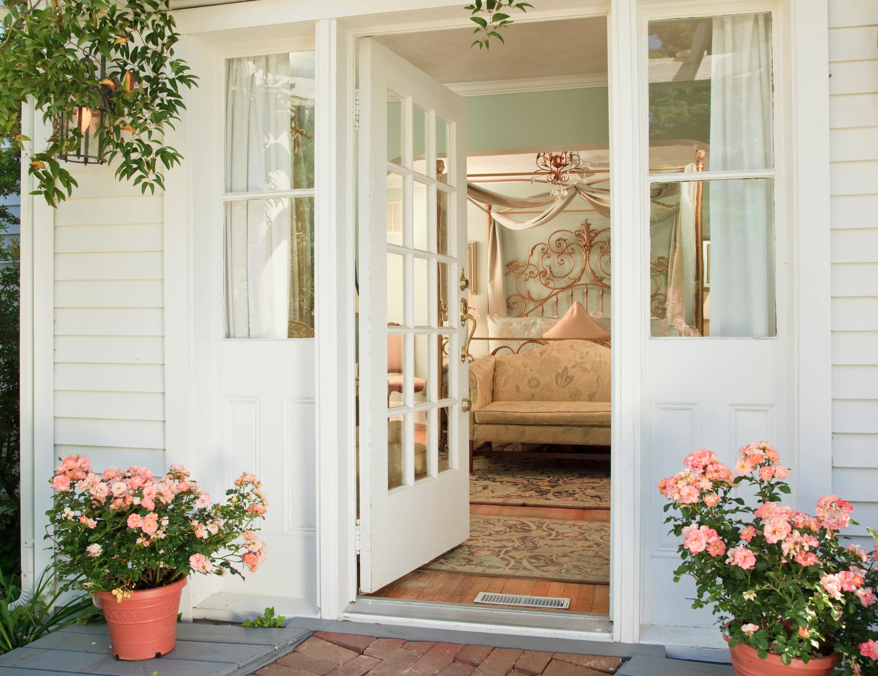 Private Door to King Bedroom at Our Manteo, NC Bed and Breakfast