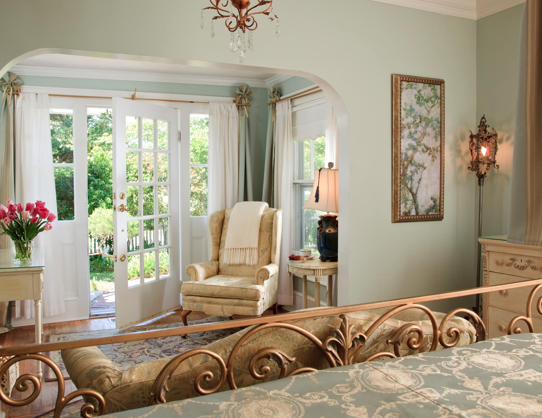 Beautiful King Room with Sitting Area at Our Manteo, NC Inn