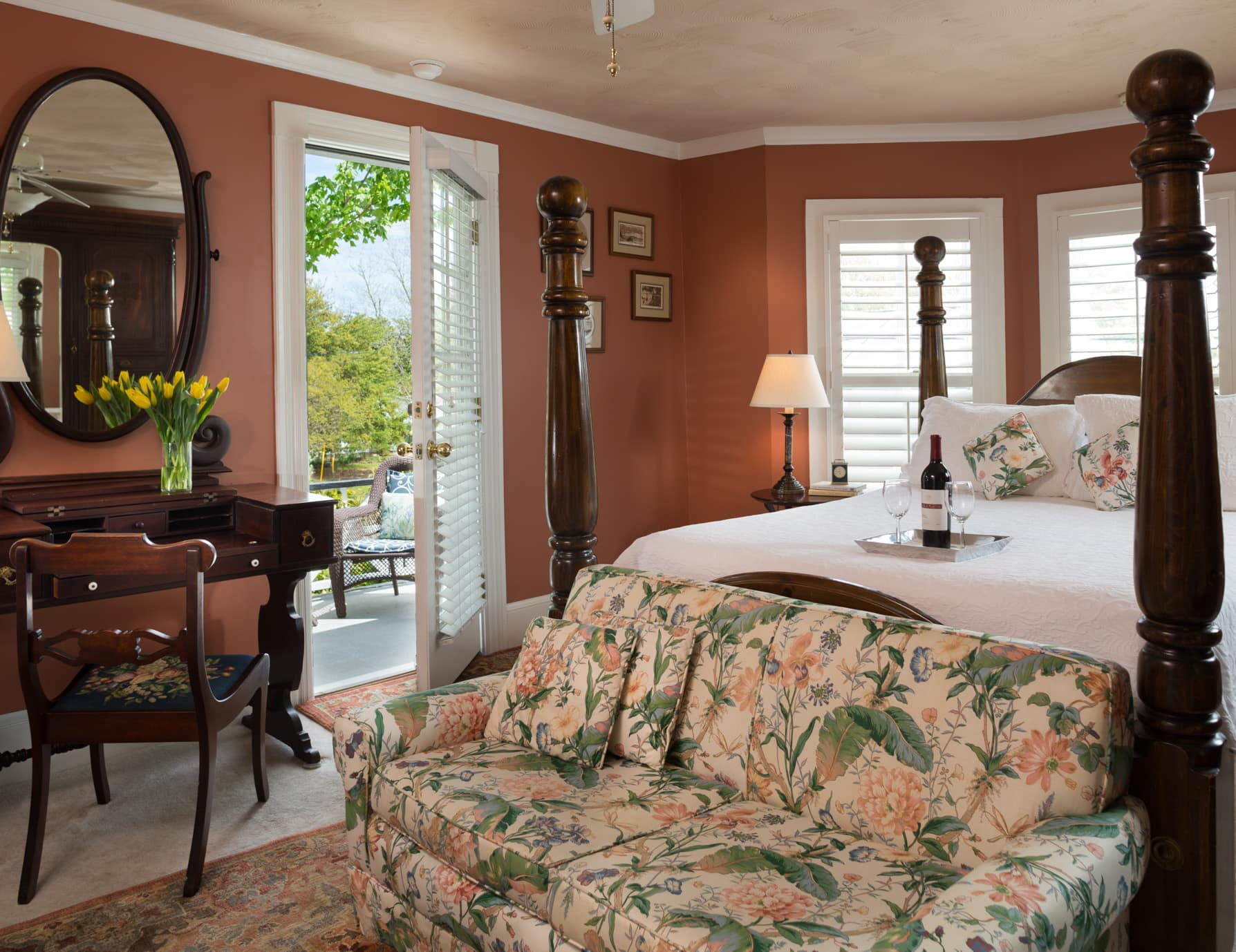 Four Poster King Bed at Our B&B in Manteo, NC