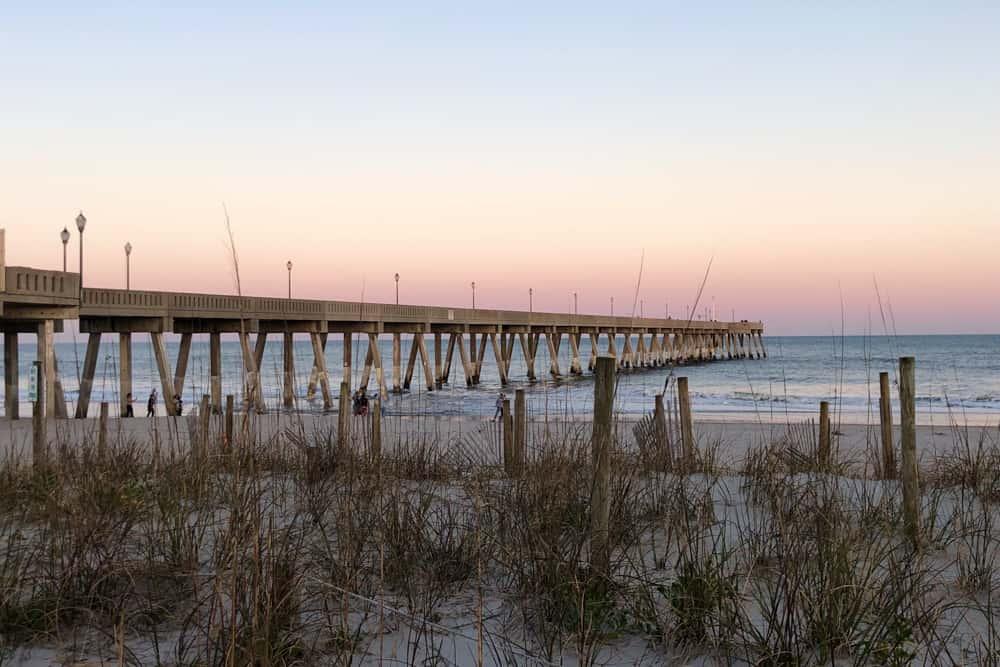 A Long Pier at an Outer Banks Beach