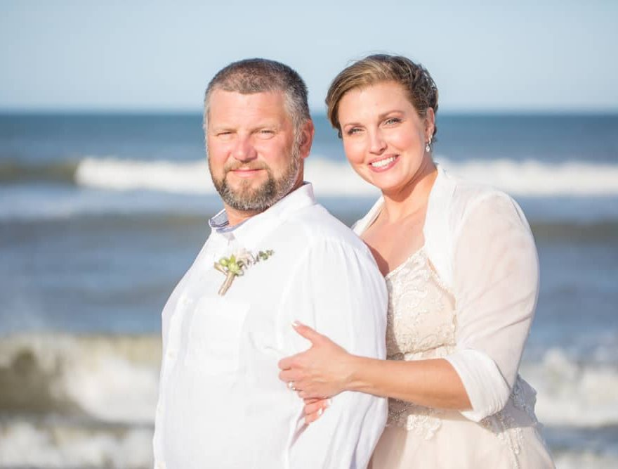 Outer Banks Bride and Groom