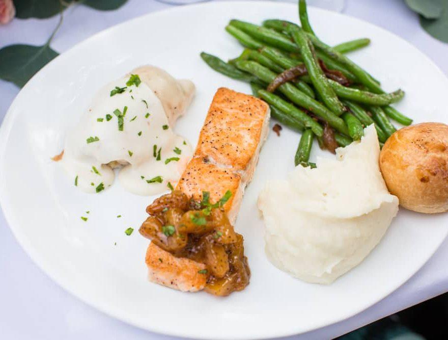 Salmon Dinner at a Wedding on Roanoke Island