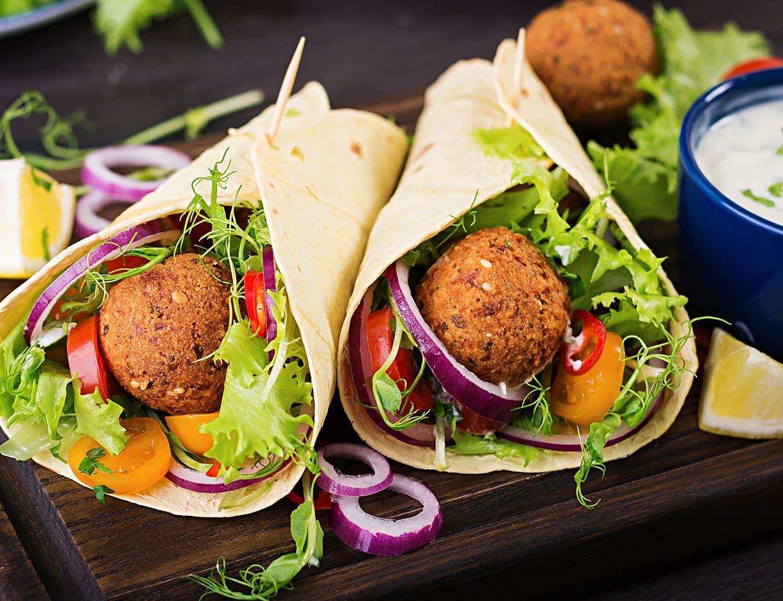 OBX Restaurant Greek Gyros with Falafel