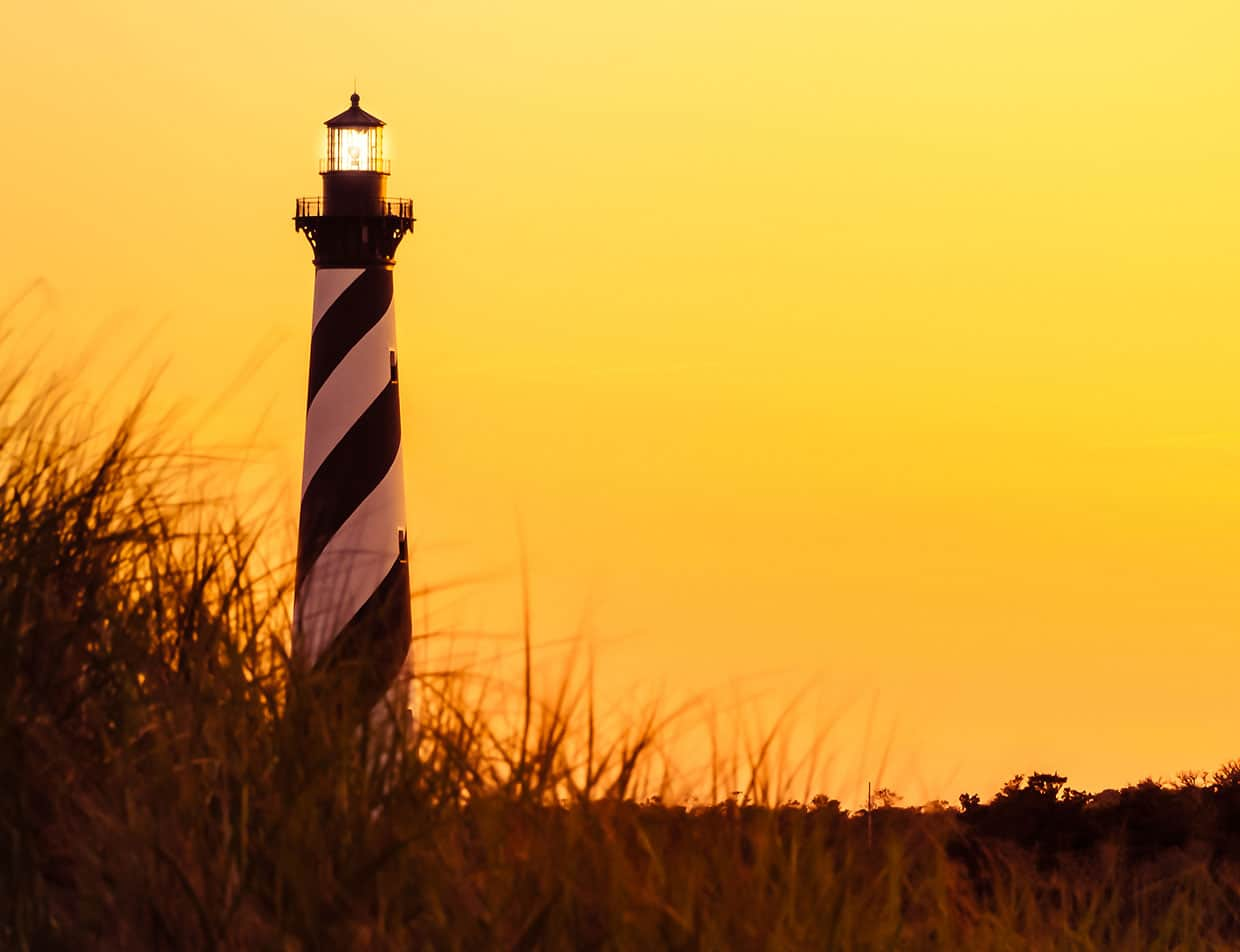 Cape Hatteras Lighthouse During East Coast Scenic Drive