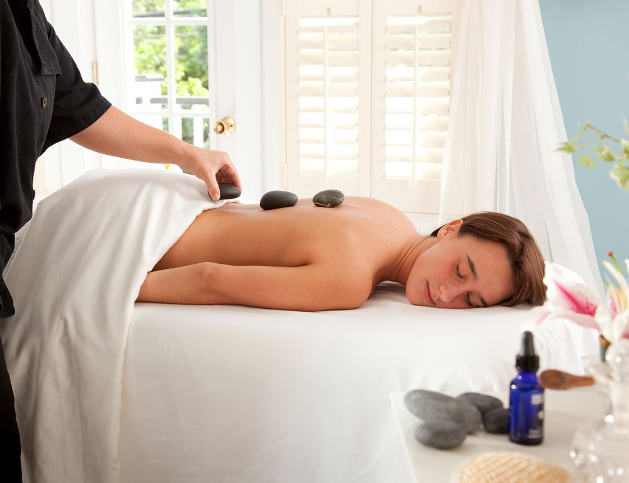 Hot Stone Massage at Our Roanoke Island Spa