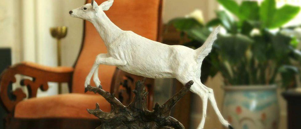 White Doe Statue
