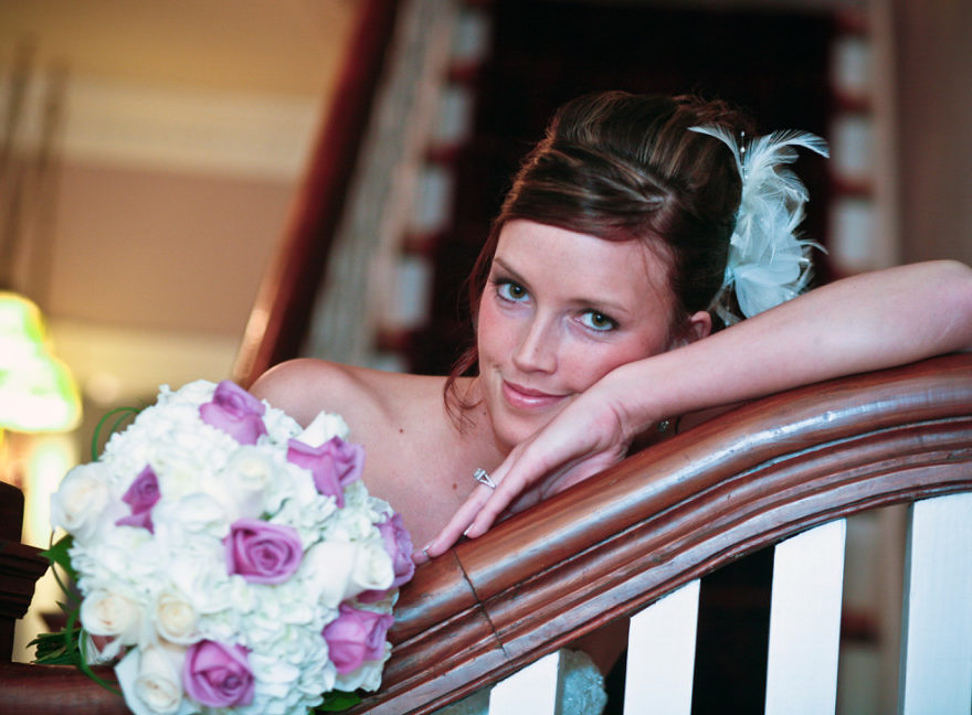 Bride on her Outer Banks wedding day