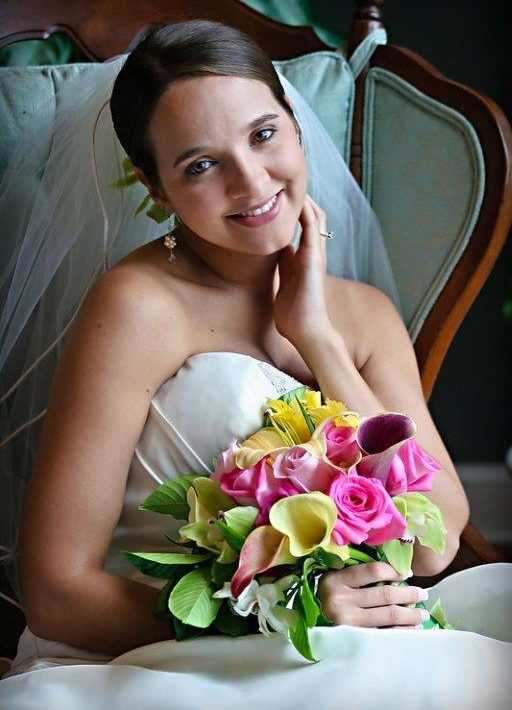 Bride smiling after North Carolina wedding