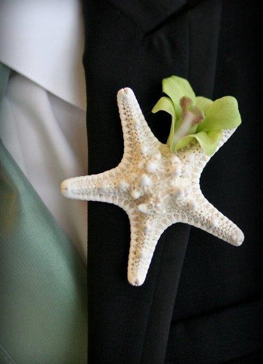 Star fish boutonniere