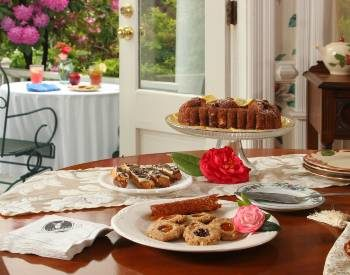 afternoon tea on table in Outerbanks B&B