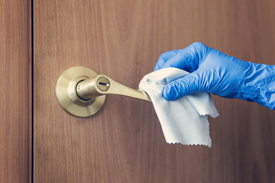 Enhanced Cleaning of Door Knob